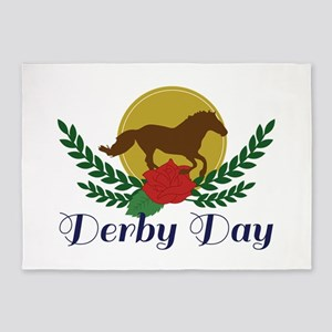 Derby Day 5'x7'Area Rug